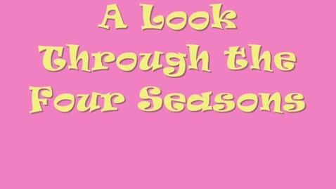 Thumbnail for entry Marron-Four Seasons Video