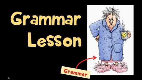 Thumbnail for entry Comma Placement Lesson, Part 1