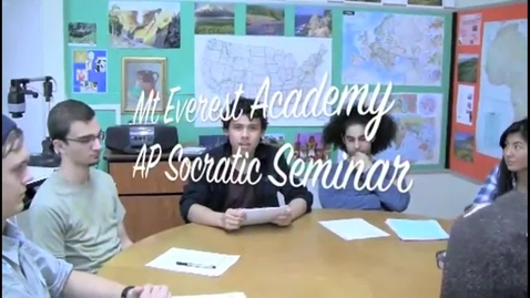 Thumbnail for entry GATE Socratic Seminar