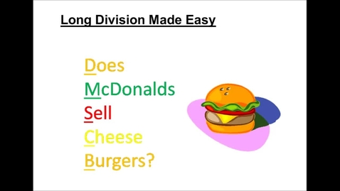 Thumbnail for entry Long Division Made Easy