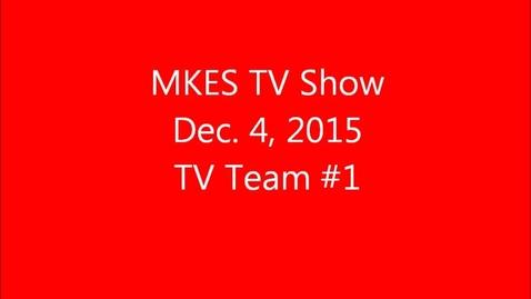 Thumbnail for entry 2015-2016   TV Team 1  December 4, 2015