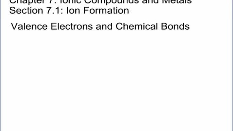 Thumbnail for entry Chemistry Section 7.1