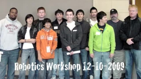 Thumbnail for entry First Robotics Challenge Team Workshop