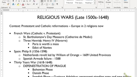 Thumbnail for entry Euro Review 4: Religious War and Science