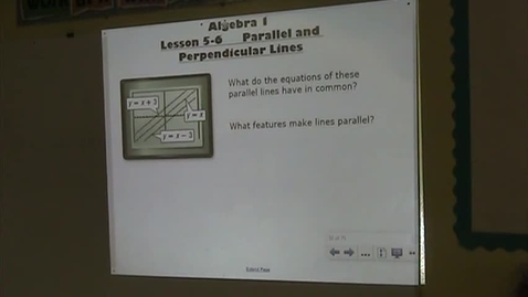 Thumbnail for entry Alg Lesson 5-6 Parallel & Perpendicular Lines
