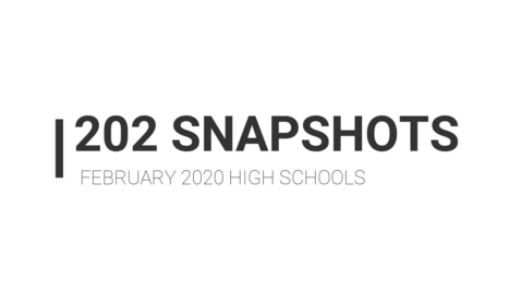 Thumbnail for entry High School Snapshots, February 2020