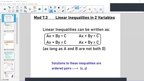 Thumbnail for entry Linear Inequalities