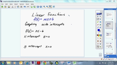 Thumbnail for entry Linear Functions for College Algebra
