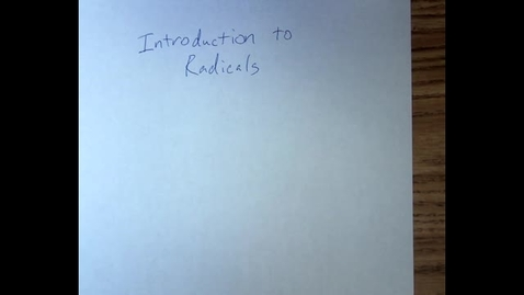 Thumbnail for entry Radicals-1
