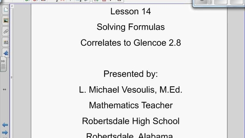 Thumbnail for entry Dimensional Analysis/Solving Formulas