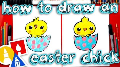 Thumbnail for entry How To Draw An Easter Chick 🐣