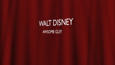 Thumbnail for entry Walt Disney By Emilie