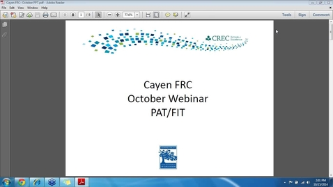 Thumbnail for entry Cayen FRC - PAT/FIT (October 2016)