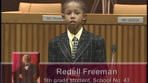 Thumbnail for entry Oratorical Presentation - Fredrick Douglass
