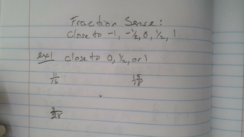 Thumbnail for entry Fraction sense- closer to 0,1 or half Fundamentals