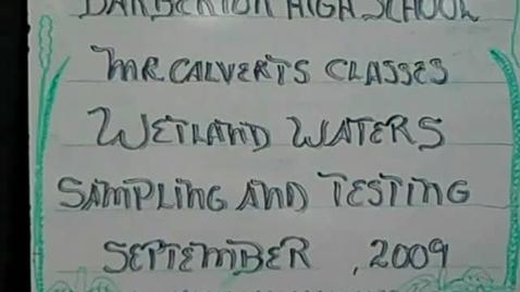 Thumbnail for entry BHS Wetland Water Sampling & Testing