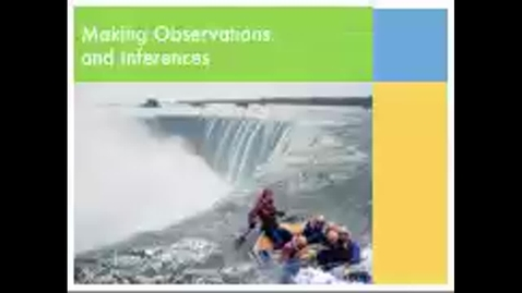 Thumbnail for entry Observations & Inferences