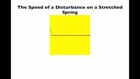 Thumbnail for entry derivation of the speed of a wave on a string