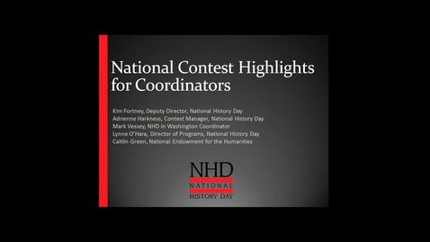 Thumbnail for entry National Contest Highlights for Coordinators