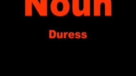 Thumbnail for entry duress--Brainy Flix vocab contest