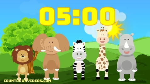 Thumbnail for entry 5 Minute Kids - Kindergarten Timer 🐮 Dancing Animals Happy Music 🎶