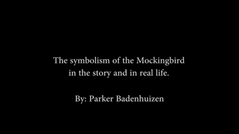 Thumbnail for entry Symbolism of the Mockingbird