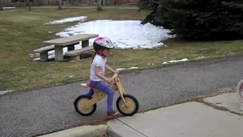 Thumbnail for entry Riding a push bike