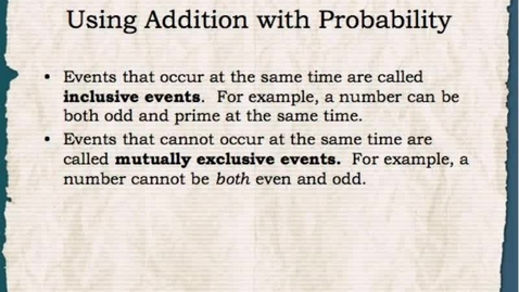 Thumbnail for entry Math 1: Addition Principles of Counting 1