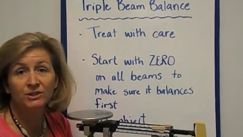 Thumbnail for entry Triple Beam Balance