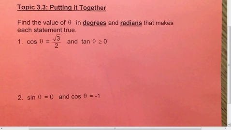 Thumbnail for entry 3.3 All Trig equations