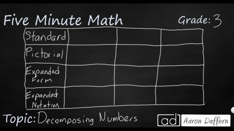 Thumbnail for entry 3rd Grade Math Decomposing Numbers