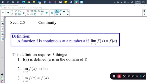 Thumbnail for entry Calc Sect. 2.5 (part 1)