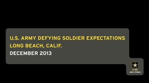 Thumbnail for entry U.S. Army Defying Soldier Expectations