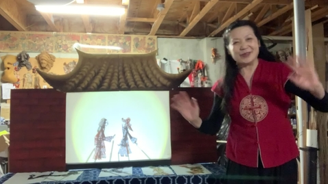 Thumbnail for entry 4thGr Chinese ShadowPuppet Theater T.HuaHua Lesson 2