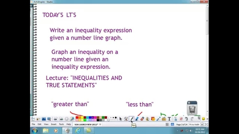 Thumbnail for entry INEQUALITIES...WHAT ARE THEY?