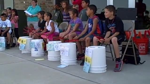 Thumbnail for entry 9:00 a.m. performance (part 4) of Bucket Drumming - Rock Ledge Summer School 2014