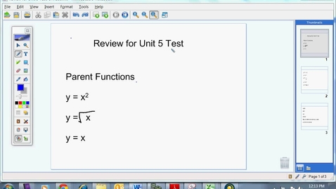 Thumbnail for entry Review for Unit 5 Test