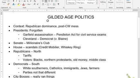 Thumbnail for entry APUSH Review 11: Gilded Age Politics/Labor