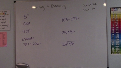 Thumbnail for entry Saxon 7/6 - Lesson 16 - Rounding & Estimating