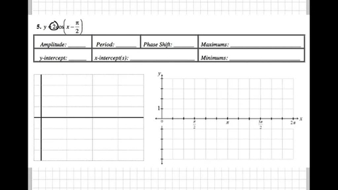 Thumbnail for entry Graphing Sine and Cosine Packet 5