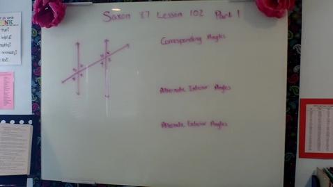 Thumbnail for entry Saxon 8/7 Lesson 102 Part 1