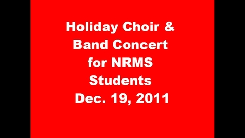 Thumbnail for entry 8th Grade Holiday Concert
