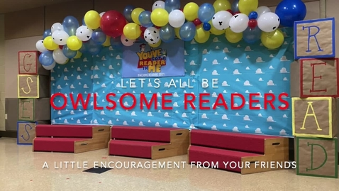 Thumbnail for entry Owlsome Reader Kickoff Encouragement Video 2021