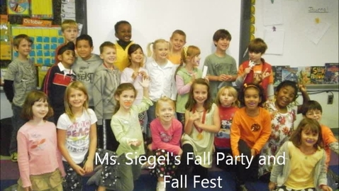 Thumbnail for entry Fall Party and Fall Fest 2011 Ms. Siegel's Class
