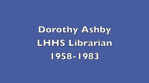 Thumbnail for entry Dorothy Ashby