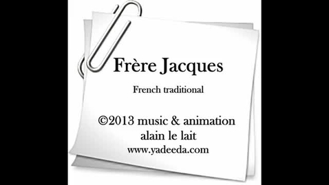 Thumbnail for entry Frère Jacques