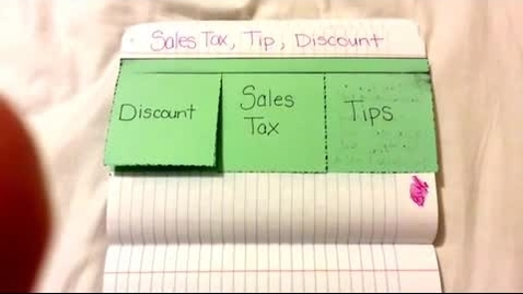Thumbnail for entry Sales Tax, Discounts and Tip