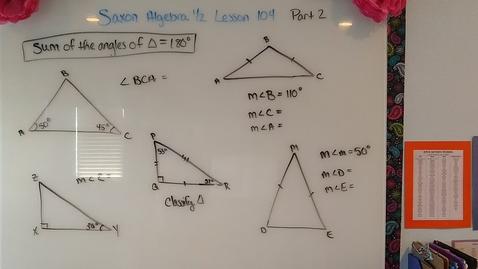 Thumbnail for entry Saxon Algebra 1/2 Lesson 104 part 2