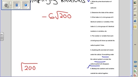 Thumbnail for entry Simplifying radicals example 10