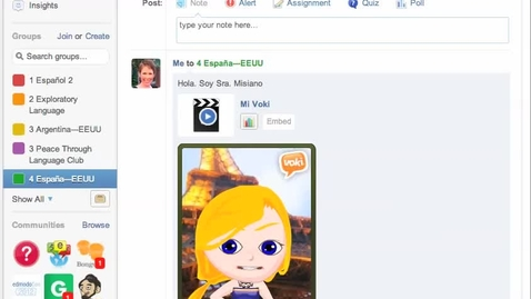 Thumbnail for entry Voki-Edmodo Tutorial for Spain